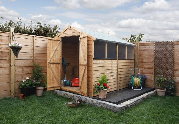 how to make your own shed base