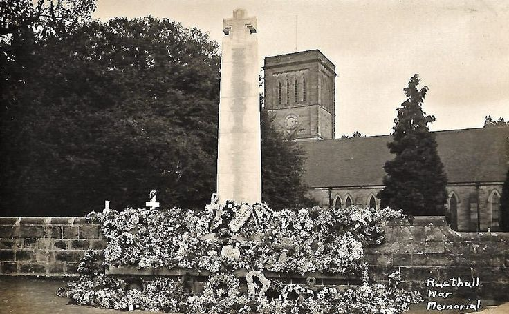 Rusthall War Memorial and St Paul's Church c1922. Photo by H Camburn.