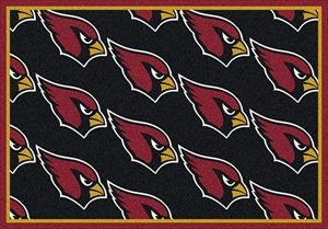 Arizona Cardinals Logo Repeat Rug Arizona Cardinals