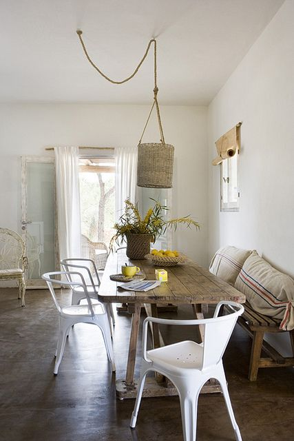rustic, dining area. dining room. home decor and interior decorating ideas.
