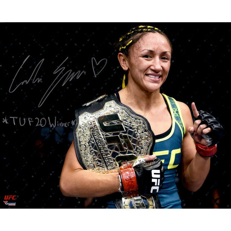 Carla Esparza Ultimate Fighting Championship Fanatics Authentic Autographed 16'' x 20'' Holding Championship Belt Photograph with TUF 20 Winner Inscription