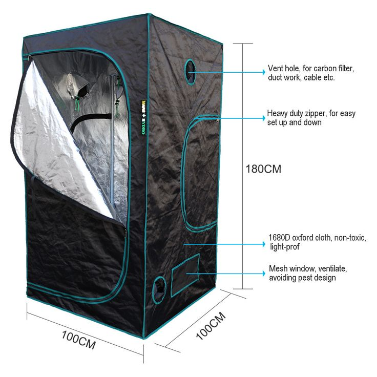 Indoor Hydroponics grow tent 100*100*180cm ,Grow kit, Complete LED Indoor Growing System