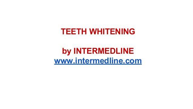Teeth whitening. Professional teeth whitening. by INTERMEDLINE via slideshare Dental procedures; teeth bleaching in dental clinics Romania. www.intermedline.com   #teethwhitening #teethbleaching  #dentist  #dental #dentistry