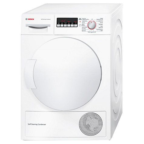 Buy Bosch WTW83260GB Freestanding Condenser Tumble Dryer, 8kg Load, A   Energy Rating, White Online at johnlewis.com