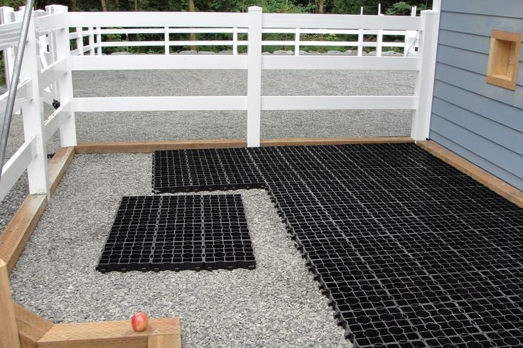 VersiGrid Permeable Pavers for paddocks, stalls, arenas, and more! No more mud, ever! Clean and happy animals!
