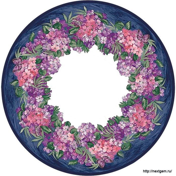Мобильный LiveInternet Круглые цветочные рамочки для декупажа | liudvas - Дневник liudvas |