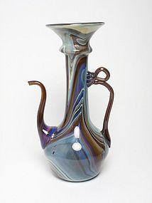 Venetian chalcedony glass ewer. Lorenzo Radi