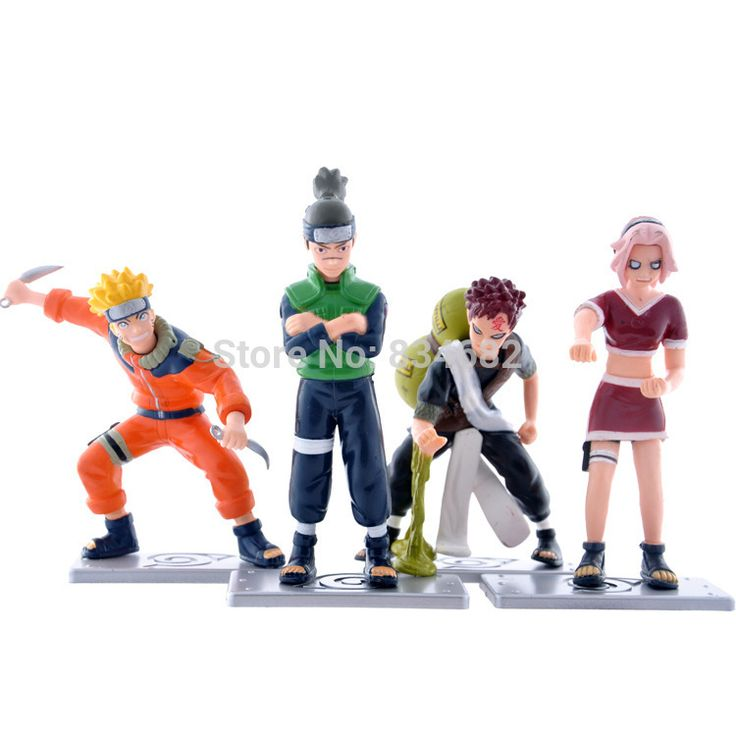 J.g чен аниме наруто узумаки наруто Umino ирука гаара харуно сакура PVC фигурки коллекционная модель игрушки куклы 4 шт./компл.