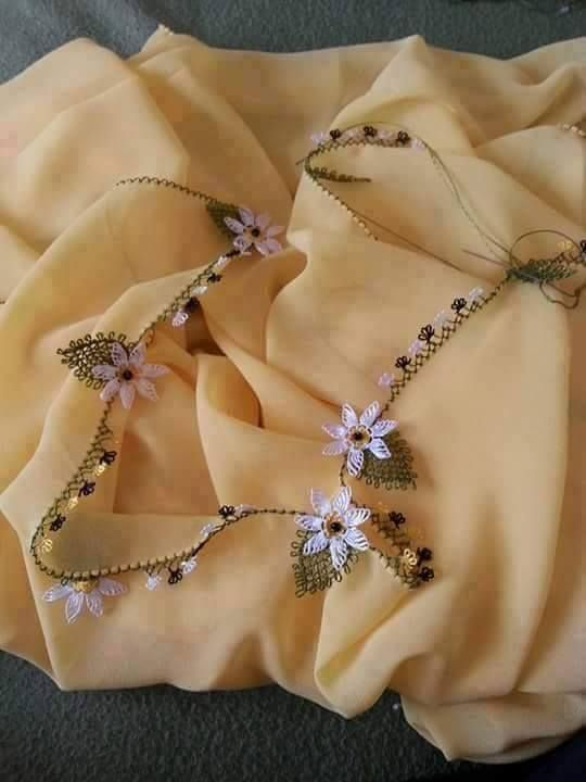 papatya modeli namaz örtüsü kenarı