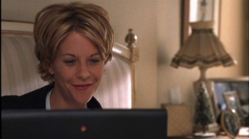 'You've got mail'   Great love story... I love Meg Ryan's hair cut in this movie.
