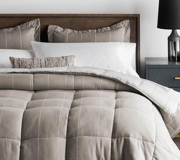 Woven Down Alternative Chambray Comforter Set King Qvc Com In 2020 Comforter Sets King Comforter Sets Oversized King Comforter