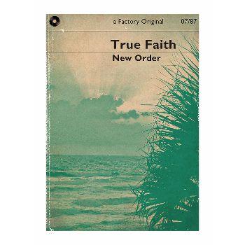 Indie Prints True Faith Music A1 Unframed Print: Literary interpretation of the New Order classic, True Faith. By Indie Prints.