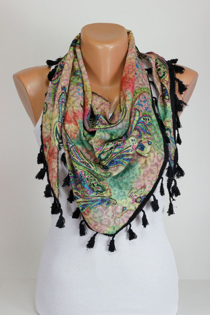 37 best Black and White Scarf images on Pinterest | Black and ...