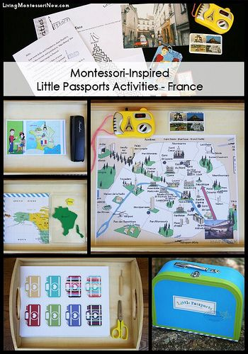 """Montessori-Inspired Little Passports Activities – France. My 2nd grade class took a """"trip"""" to Ireland and I've never forgotten it! I can't wait to do this with my kids!"""