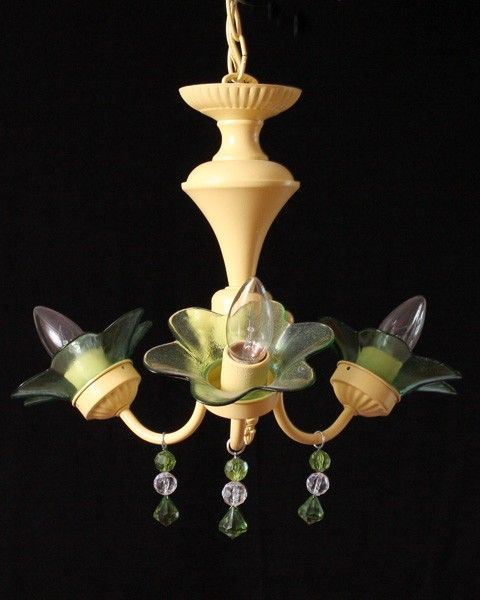 Buttercup Yellow Chandelier MADE TO ORDER by ShabulousChandeliers on Etsy https://www.etsy.com/listing/90925462/buttercup-yellow-chandelier-made-to