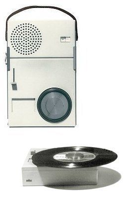 Braun TP1 portable record player / radio by Dieter Rams, 1959