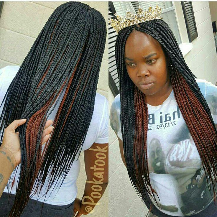Box braids. Layer ombre.