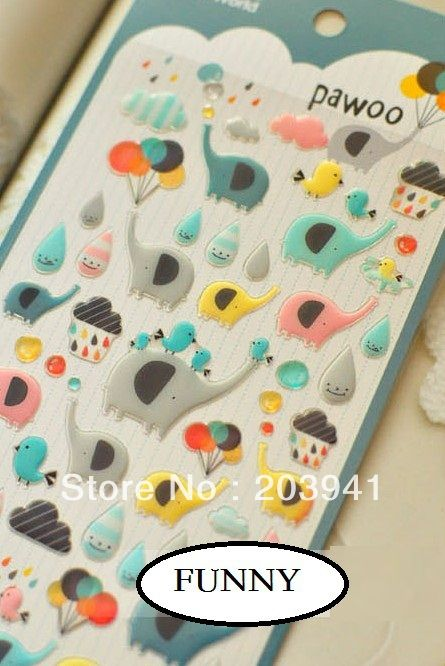NEW 3D Crystal animal style deco PVC sticker/students' Deco label/stationery stickers office school supplies/HY Global Wholesale-in Stationery Sticker from Office & School Supplies on Aliexpress.com | Alibaba Group