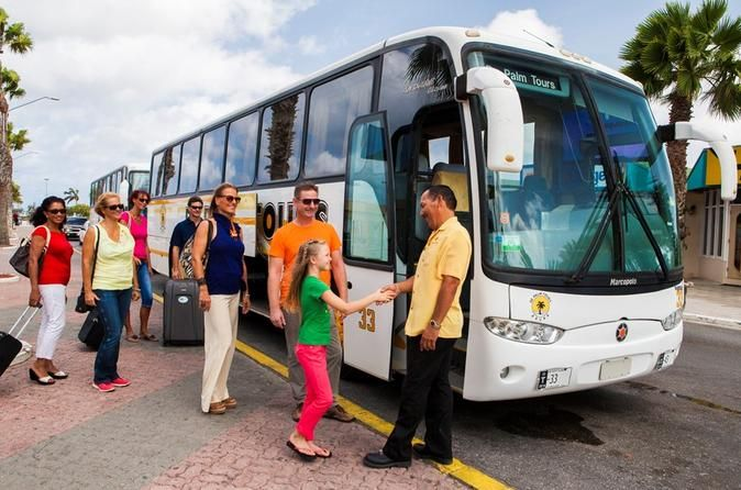 Round-trip Aruba Airport Transfer Whether it's getting to your hotel as soon as possible, or looking after the family following a long journey, the last thing you want is a long wait! Don't worry, when you fly to Aruba, a coach will be there waiting for you at the airport to ensure you have a stress free and comfortable journey to your destination aboard a deluxe air-conditioned motor coach.Prebook your round-trip transfer between the Aruba airport and your hotel before you le...