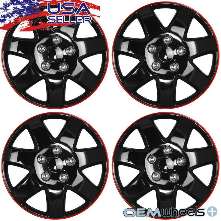 "4 NEW OEM BLACK 15"" HUB CAPS FITS SCION SUV tC iQ xB CAR CENTER WHEEL COVER SET"