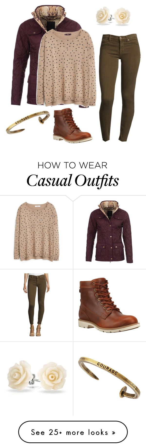 """""""Casual-6"""" by madmaddy33 on Polyvore featuring Barbour, MANGO, Bling Jewelry, Hudson, Timberland and Giles & Brother"""