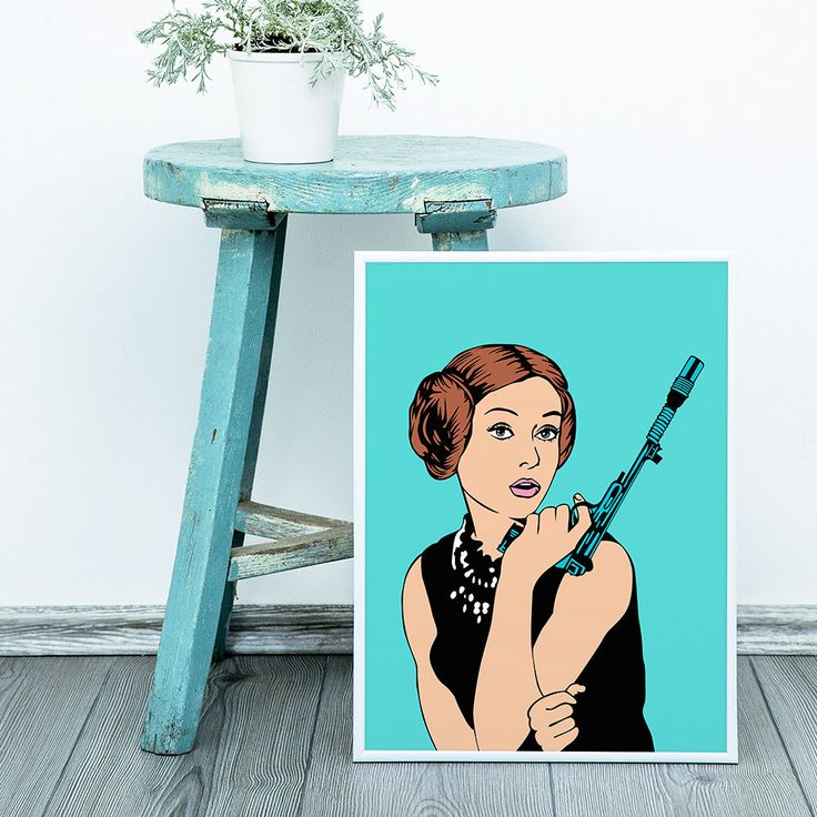Princess Leia Blue Theme Customizable Star Wars Comic