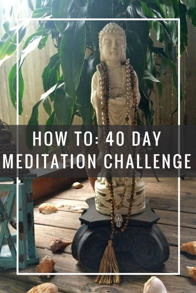 40 Day Mantra Medtiation Challenge - Pin now, meditate later!