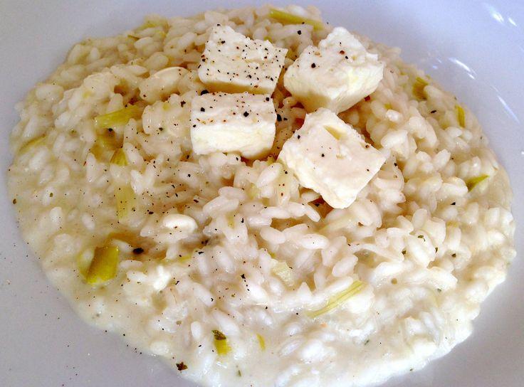 Feta cheese risotto