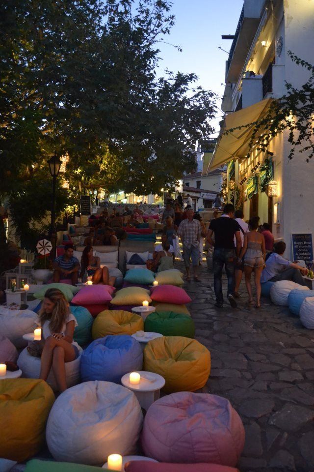 Cozy bar at Skiathos Island, Greece.