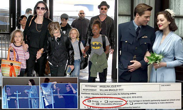 Angelina Jolie files for divorce from Brad Pitt after 12 years -     Brad Pitt  has warned Angelina Jolie he is ready to fight for joint custody of their children amid claims she told him 'I can't do this any more' ...
