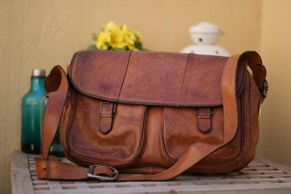 Borsa vintage Arfango a tracolla in pelle / Vintage leather Arfango bag #ambrarose #arfango #vintage #leather #bag
