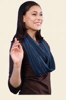 ~:~ Beautiful Organic Cotton Mesh Infinity Scarf in lovely jewel colors at Kasper Organics ~:~