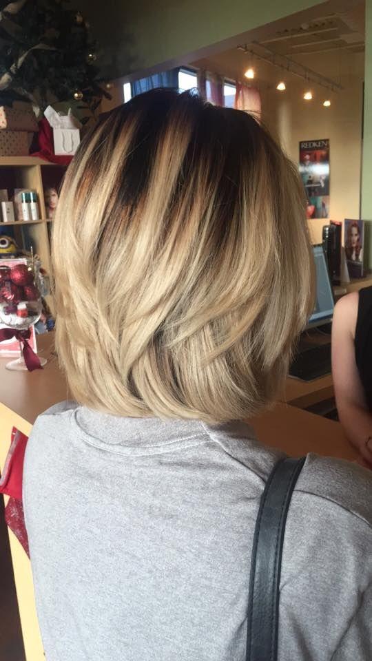 Dark roots, blonde hair @arborsalonandspa