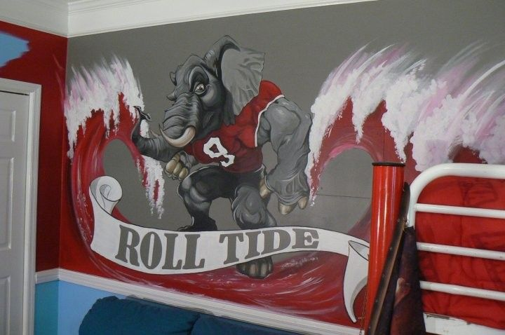 The Bama Room for the True Fan or the perfect man cave painting! Love this!!