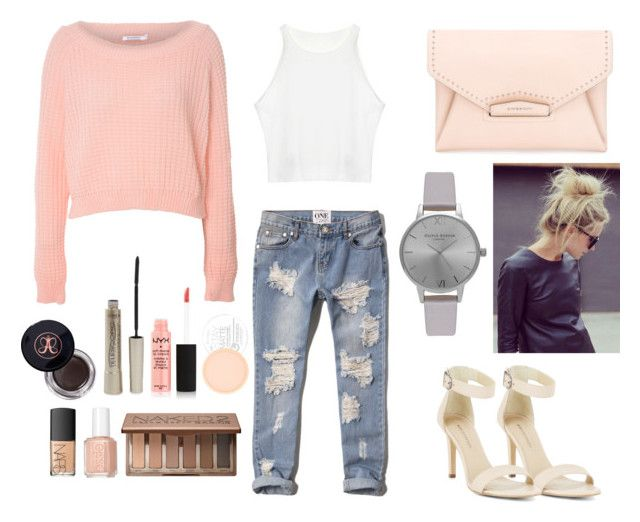 Brunch OOTD by vankaa on Polyvore featuring Glamorous, Abercrombie & Fitch, BCBGMAXAZRIA, Givenchy, Olivia Burton, Urban Decay, NYX, Anastasia, L'Oréal Paris and Rimmel