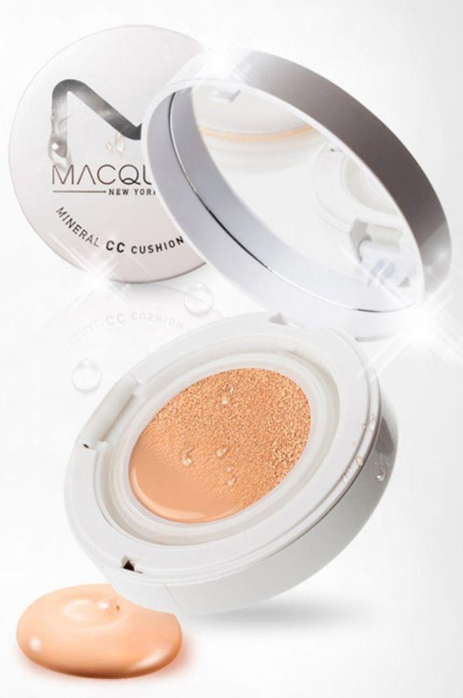 MACQUEEN Mineral CC Cushion Foundation CC Cream 13g + REFILL 13g SPF+ PA+++ #Macqueen