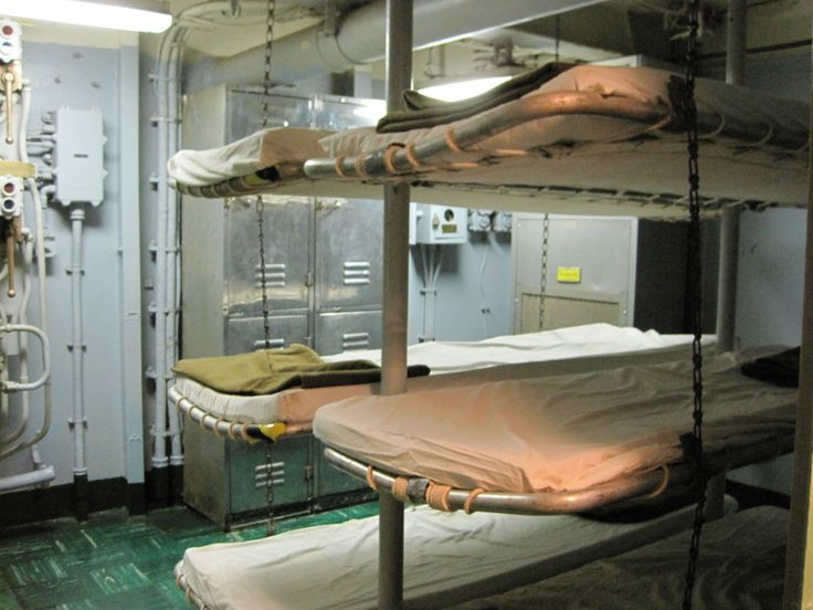 Bunks On The Second Deck Outside The Post Office.