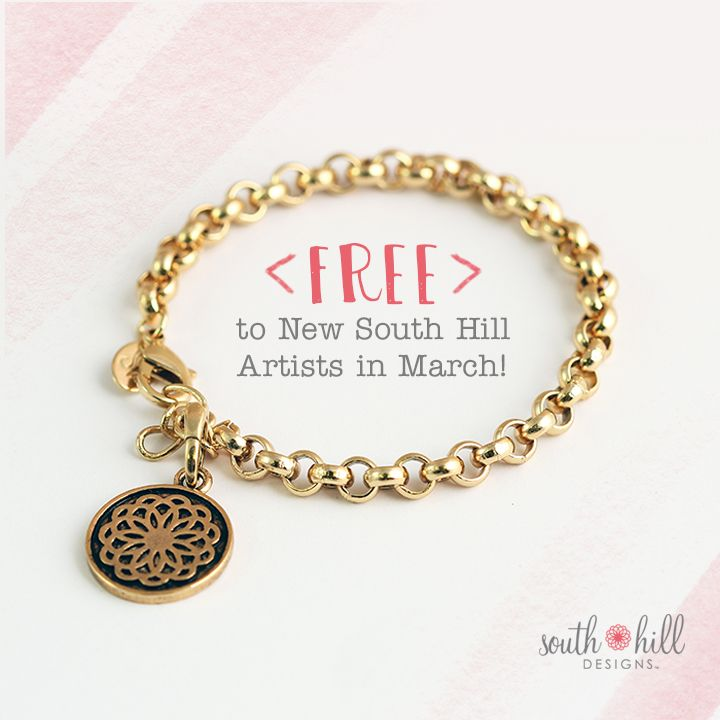 Artists who join in March will receive an exclusive Gold Rolo Chain Bracelet with the South Hill Flower Bangle!   *Artists must be new, first-time Artists to qualify for this incentive.  Gold Rolo Chain Bracelets will begin shipping on March 7 with Starter Kits. Artists must enroll between 12:00 a.m. CST March 1, 2015 and 11:59 p.m. CST March 31, 2015.   **Offer not valid for the Intro Social kit.