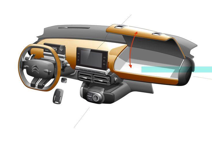 Citroen Cactus Concept - Interior Design Sketch-Instrument Panel