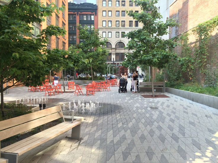 Beekman Plazas, by James Corner Field Operations and Piet Oudolf, in Manhattan, New York City.