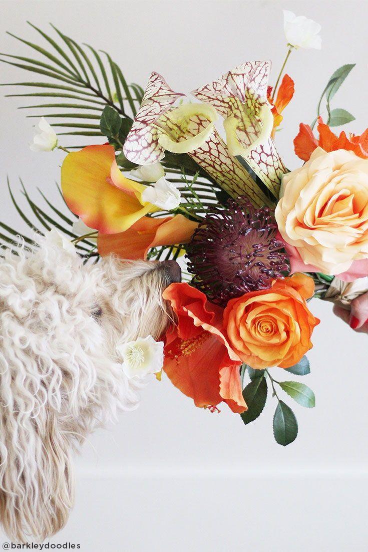 Pet Friendly Hypoallergenic Silk Flowers For Your Home Decor Or Wedding Flowers Tropical Flower Arrangements Diy Wedding Flowers Bouquet Diy Wedding Flowers