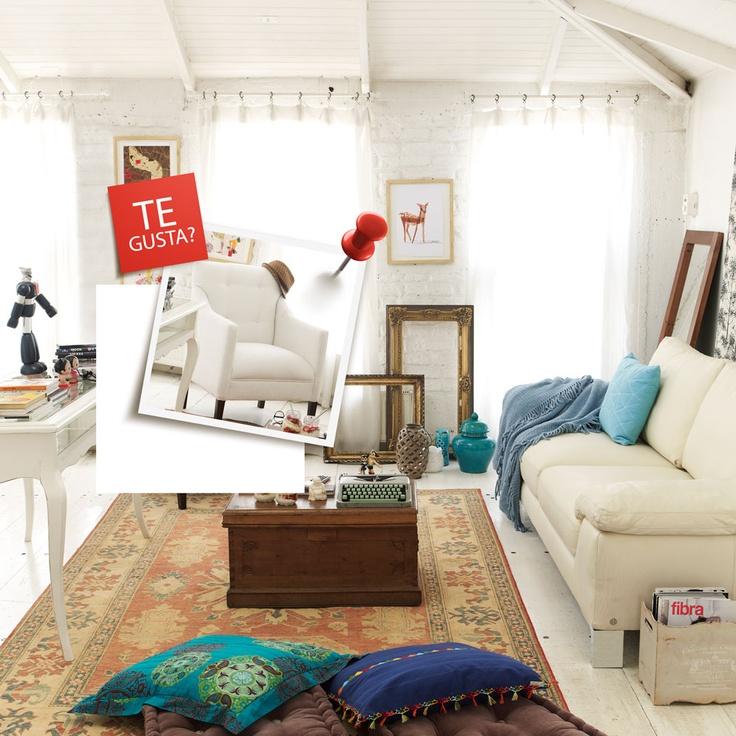 Living bohemio, ¿Te gusta? Participa por el sillón destacado en http://eres.ripley.cl/