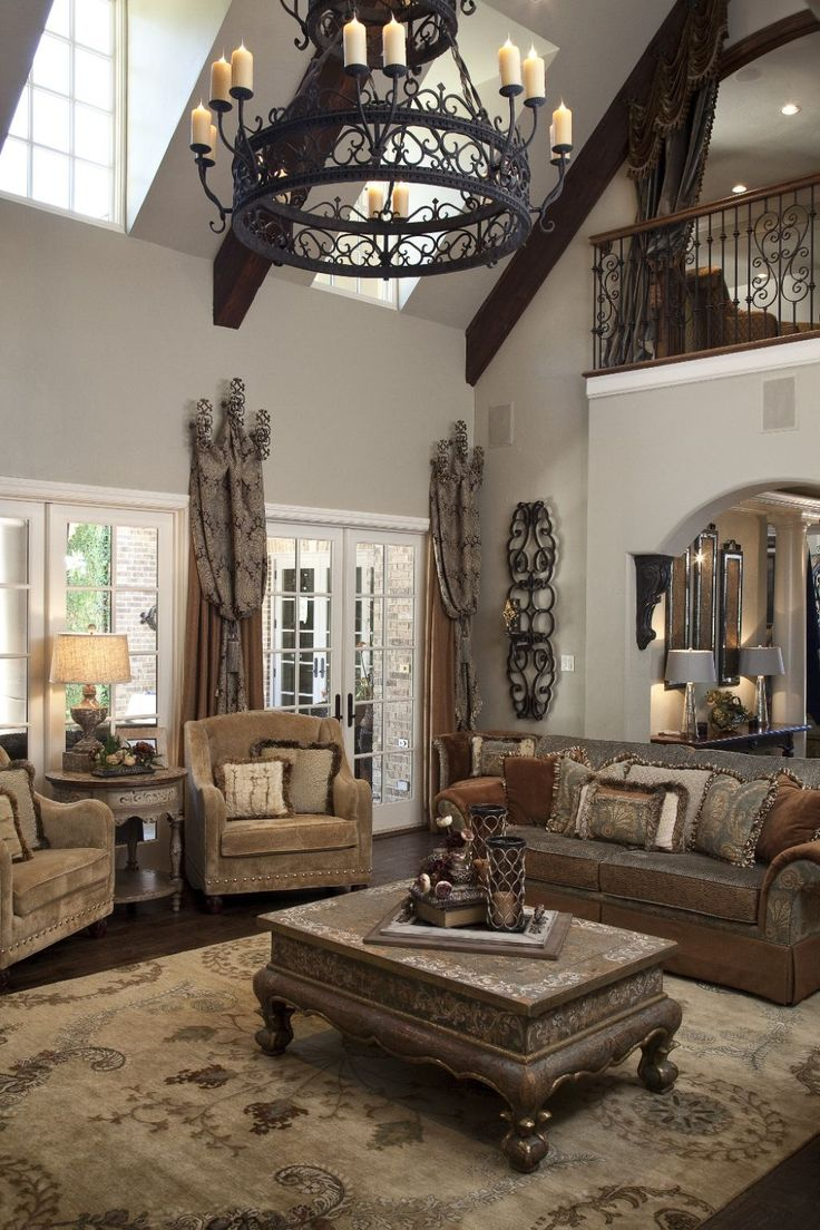 The 25 best tuscan living rooms ideas on pinterest brown living room sofas tuscan style and for Tuscan living room furniture