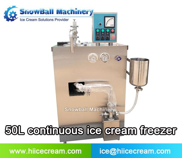 50l Continuous Ice Cream Freezer Industrial Ice Cream Solutions