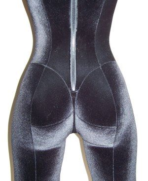 """amazing pattern drafting site for stretch fabrics, etc; not sewing 101 but great info all over the place. This piece in particular is a WOW, wet-suit engineering taken to the next level by reducing pockets of air and making more close fitting; """"thong"""" style construction. Writer correctly points out that costumers for cosplay/fetish community would be v interested in this."""