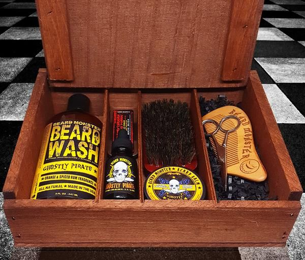 This kit is the most complete beard grooming package we offer. Includes all the tools you need: oils, balm, wash, wax, brush, comb, and scissors. Just $66.