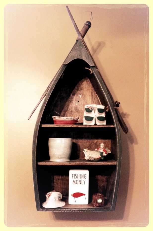 Cute boat shelf for fishing nursery