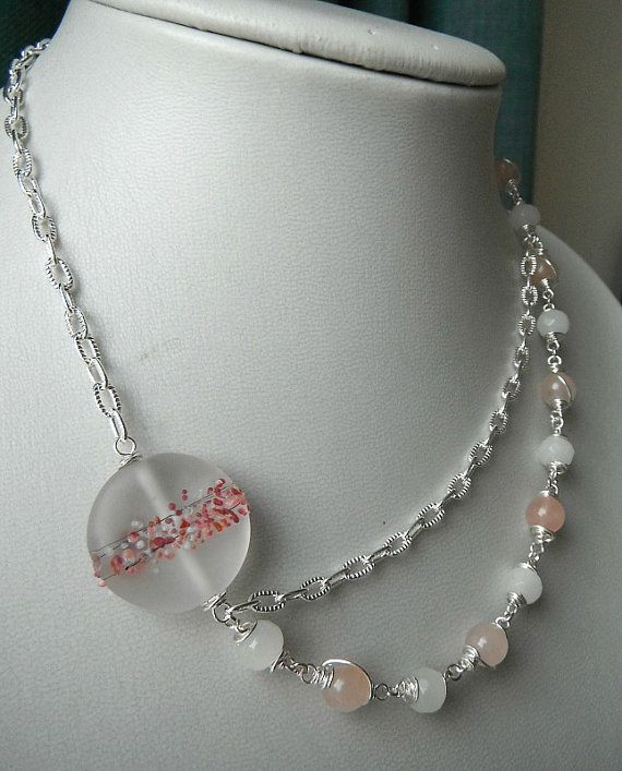 Rose Quartz and Glass Vintage Inspired by JewellerybyJellybean