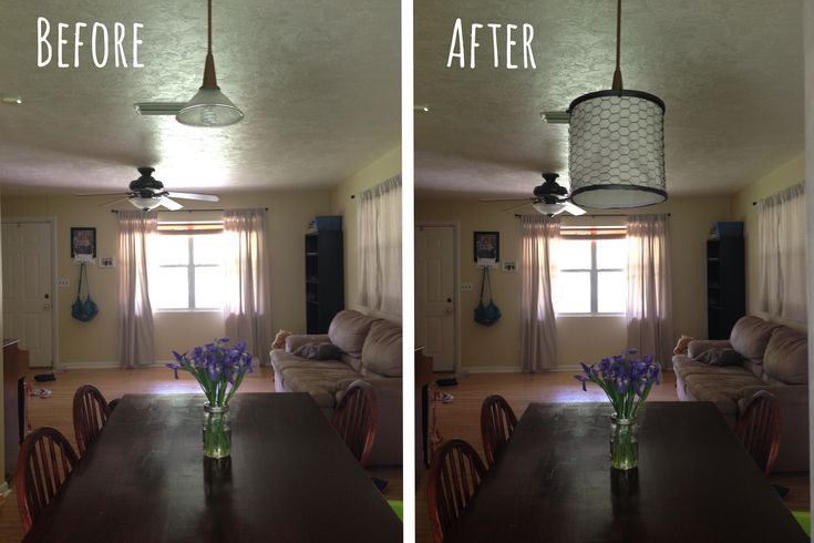 DIY: farmhouse-style chicken wire lamp cover. (Or it could be a chandelier, with a few modifications and some tealights wired in...)