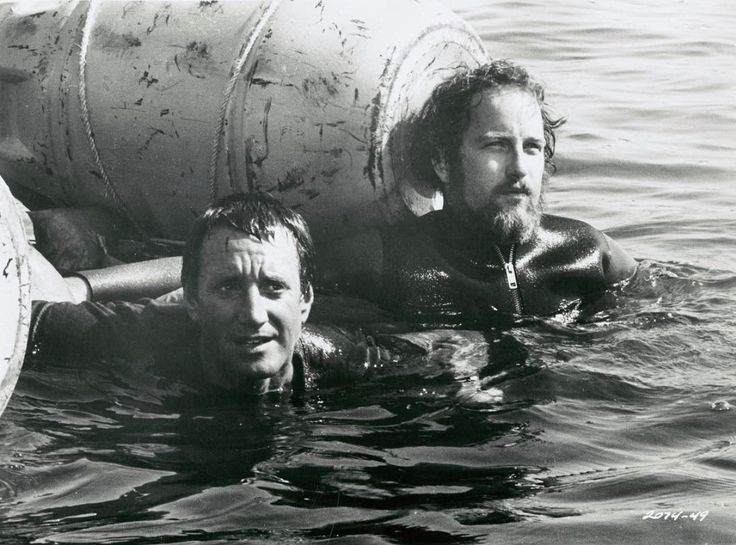 Super rare photo but soooo cool. Two great actors about to film the most perfect ending to the greatest movie ever made, Jaws. Neither Scheider or Dreyfuss knew the lasting impact Jaws would have on us all. Makes me want to watch Jaws right now - and I think that's just what I'll do! When was the first time you saw Jaws and how many times have you seen it?